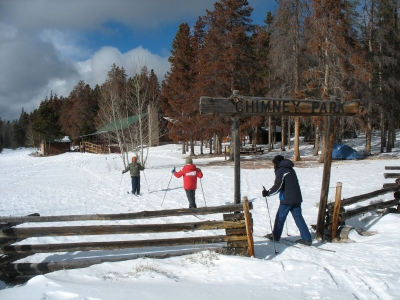 X-C skiing at Chimney Park