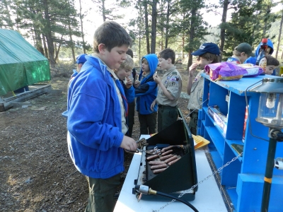 Cooking on the patrol box