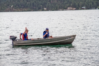 Motorboating merit badge at summer camp
