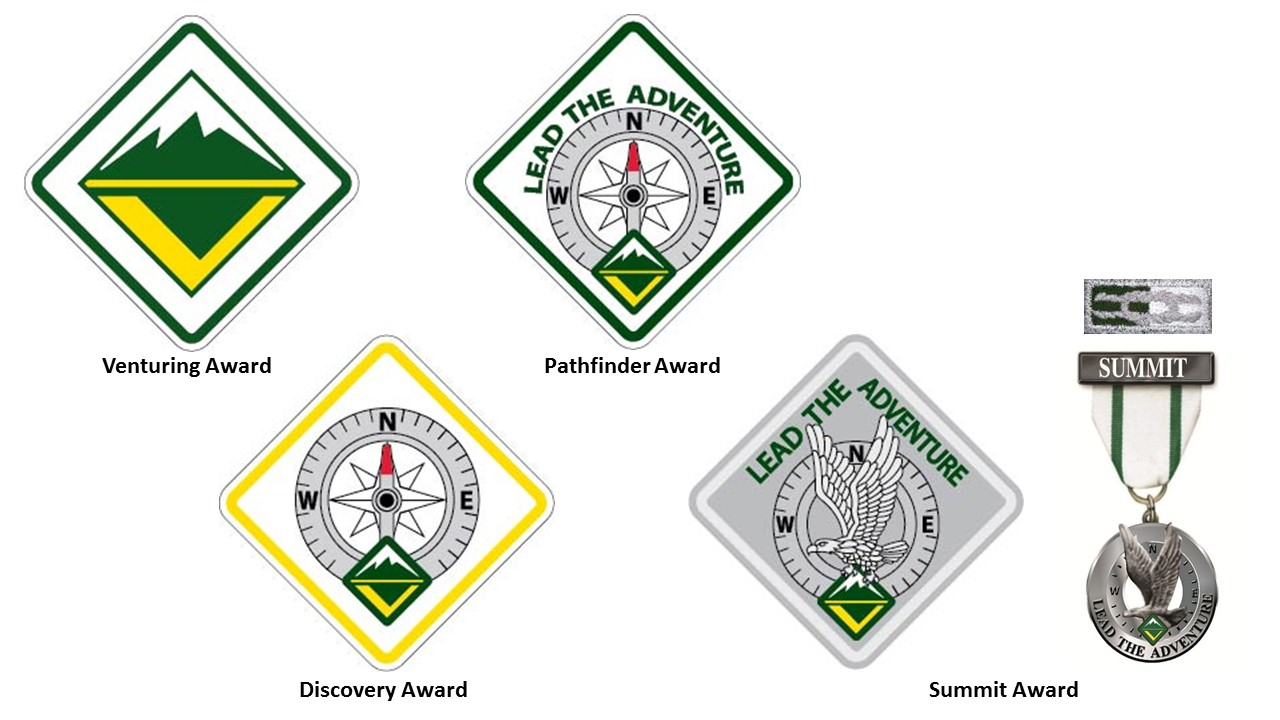Venturing, Discovery, Pathfinder, & Summit Awards
