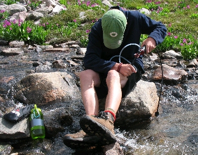 Pumping (purifying) Water in the Backcountry