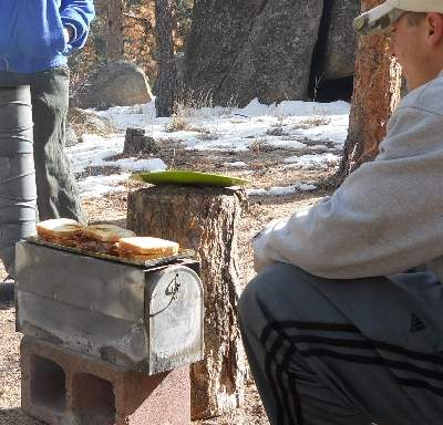 Winter Cooking on a Mailbox Stove
