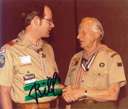 Photo of Green Bar Bill with Scoutmaster Jeff Snowden