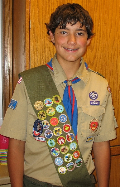 BSA merit badge sash