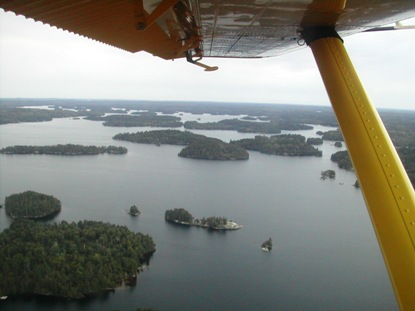 Quetico Provincial Park from the Floatplane